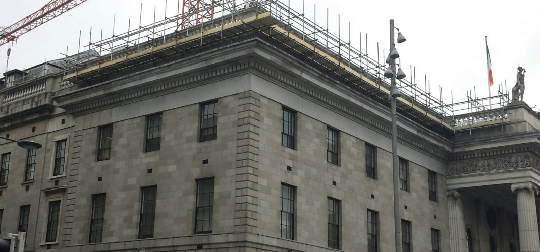 GPO Balustrade Replacement Commences over O'Connell Street111